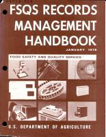 FSQS Records Management Handbook PDF