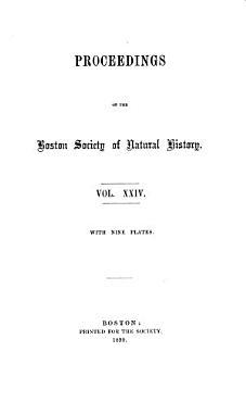 Proceedings of the Boston Society of Natural History PDF