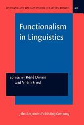 Functionalism in Linguistics