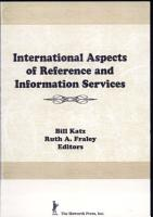 International Aspects of Reference and Information Services PDF
