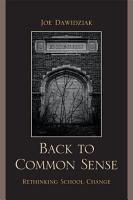 Back to Common Sense PDF