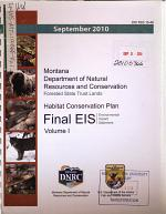 Montana Department of Natural Resources and Conservation, Forested State Trust Lands, Habitat Conservation Plan