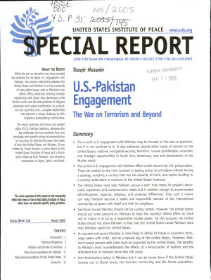 U S  Pakistan Engagement PDF