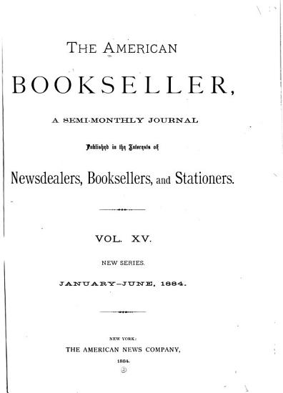 The American Bookseller PDF