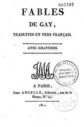 Fables de Gay, traduites en vers français
