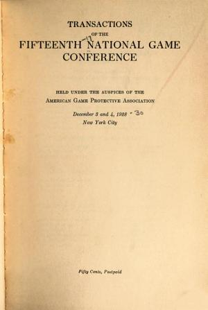 Transactions of the     American Game Conference PDF
