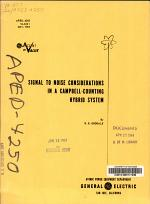 Signal to Noise Considerations in a Campbell-counting Hybird System