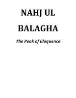 Sermons from Imam Ali  Nahj Ul Balagha PDF