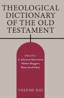 Theological Dictionary of the Old Testament  Volume XIII PDF