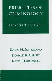 Principles of Criminology: Edition 11