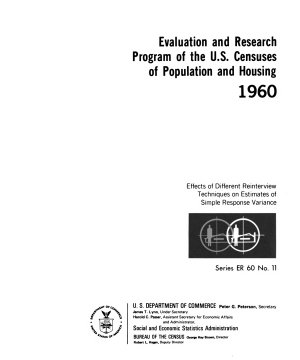 Evaluation and Research Program of the U S  Censuses of Population and Housing  1969 PDF