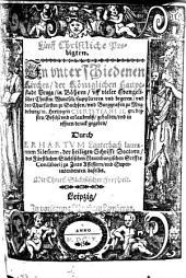 Fünff Christliche Predigten: In vnterschiedenen Kirchen, der Königlichen Hauptstadt Praga, in Böhem ... gehalten ...