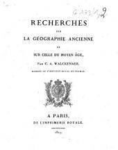 Recherches sur la géographie ancienne et sur celle du Moyen-âge