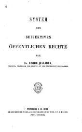 System der subjektiven öffentlichen Rechte