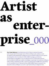 Artist as enterprise