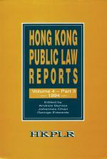Hong Kong Public Law Reports, Volume 4, Part 3 (1994)