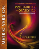 Probability and Statistics for Engineering and the Sciences  9e  International Metric Edition