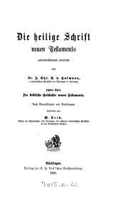 Die heilige Schrift neuen Testaments zusammenhängend untersucht: Band 10