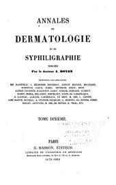 Annales de dermatologie et de syphiligraphie: Volume10
