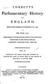 Cobbett's Parliamentary History of England: Volume 2
