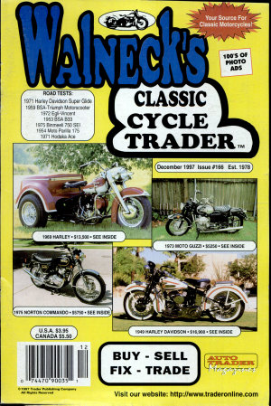WALNECK S CLASSIC CYCLE TRADER  DECEMBER 1997 PDF