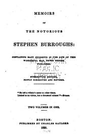 Memoirs of the Notorious Stephen Burroughs