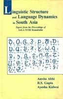 Linguistic Structure and Language Dynamics in South Asia PDF