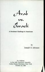 Arab Vs Israeli Book PDF