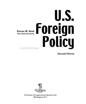 U S  Foreign Policy  the Paradox of World Power  2nd Edition