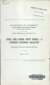 Cuba and other West Indies: a current business analysis, Issue 15