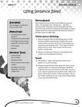 Writing Lesson Level K--Using Sentence Stems