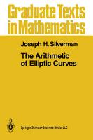 The Arithmetic of Elliptic Curves PDF
