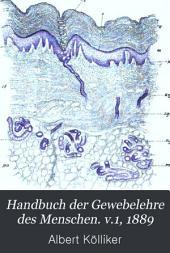 Handbuch der Gewebelehre des Menschen: Band 1