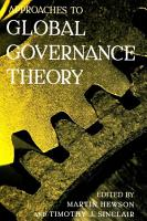 Approaches to Global Governance Theory PDF
