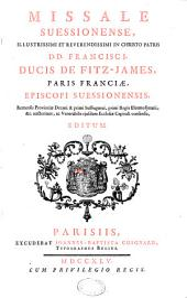 Missale suessionnense, épiscopi de Fitz-James