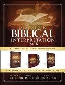 Introduction to Biblical Interpretation Pack
