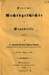 Deutsche Rechtsgeschichte im Grundrisse