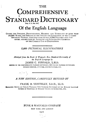 The Comprehensive Standard Dictionary of the English Language
