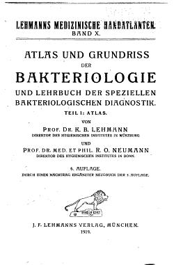 Atlas und Grundriss der Bakteriologie und Lehrbuch der speziellen bakteriologischen Diagnostik     PDF