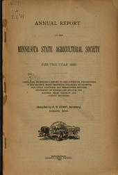 Annual Report of the Minnesota State Agricultural Society for the Year ...