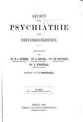 Archiv für Psychiatrie und Nervenkrankheiten: Band 10