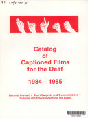 Catalog of Captioned Films for the Deaf PDF