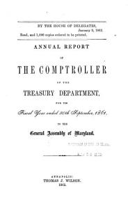 Annual Report of the Comptroller of the Treasury Department for the Fiscal Year Ended     to the General Assembly of Maryland PDF