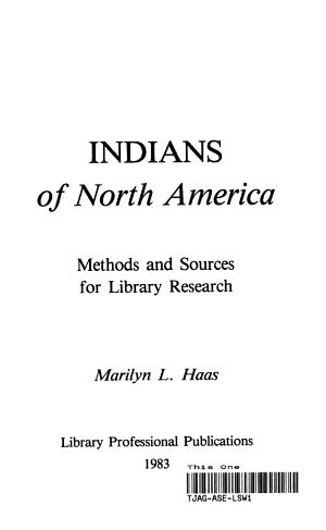 Indians of North America PDF