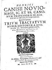 Refutatio trium Tractatuum nuper editorum a quodam Ge. Heidelbergensi ...