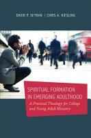Spiritual Formation in Emerging Adulthood PDF