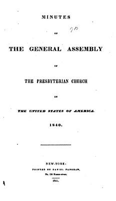 Minutes of the General Assembly of the Presbyterian Church in the United States PDF