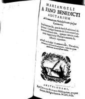 Mariangeli a Fano Benedicti Auctarium Ad Grammaticam philisophicam ejusque Rudimenta...
