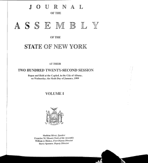 Journal of the Assembly of the State of New York PDF