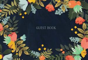Guest Book Modern Floral Book